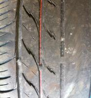 Damage caused by tracking being out of alignment