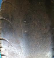 Illegal (bald) tyre - tread has worn below 1.6mm